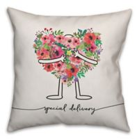 Designs Direct Special Delivery Square Throw Pillow in Pink