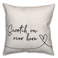 "Designs Direct ""Scootch on Over Here"" Square Throw Pillow"