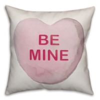 Designs Direct Be Mine Heart Square Throw Pillow in Pink