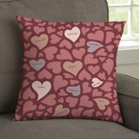 Loving Hearts Personalized Throw Pillow
