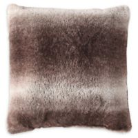 MHF Home Millburn Faux Fur Square Throw Pillow in Brown