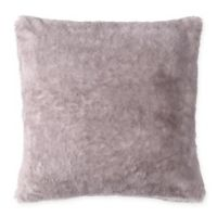 MHF Home Millburn Faux Fur Square Throw Pillow in Lavender