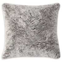 Morgan Home Millburn Faux Fur Square Throw Pillow in Taupe