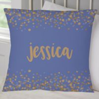 Sparkling Name Personalized Throw Pillow