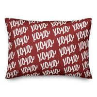 Designs Direct XOXO Script Oblong Throw Pillow in Red