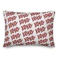 Designs Direct XOXO Script Oblong Throw Pillow in White