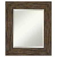Amanti Art Fencepost Brown 23-Inch x 27-Inch Framed Wall Mirror
