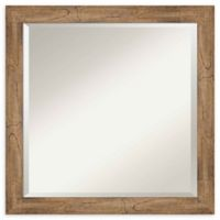 Amanti Art Narrow Owl Brown Square 23-Inch Framed Wall Mirror
