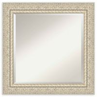 Amanti Art Fair Baroque Cream Square 26-Inch Framed Wall Mirror