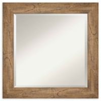 Amanti Art Owl Brown Square 25-Inch Framed Wall Mirror