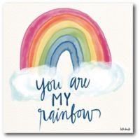 Courtside Market™ You Are My Rainbow 16-Inch Square Framed Wrapped Canvas