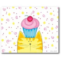 Courtside Market™ Kittycorn Cupcake 16-Inch Square Framed Wrapped Canvas