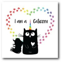 Courtside Market™ I Am A Caticorn 16-Inch Square Framed Wrapped Canvas