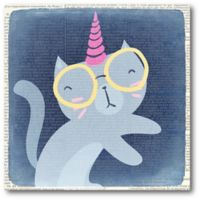 Courtside Market™ Quirky Caticorn 16-Inch x 16-Inch Framed Wrapped Canvas Wall Art