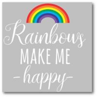 Courtside Market™ Happy Rainbows 16-Inch x 16-Inch Framed Wrapped Canvas Wall Art