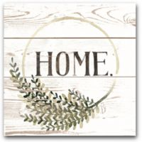 Courtside Market Farmhouse Home Sign 20-Inch x 20-Inch Framed Wrapped Canvas Wall Art