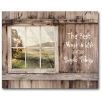 "Courtside Market™ ""The Best Things in Life Are The Simple Things"" Canvas Wall Art"