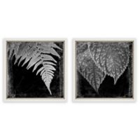 Kate And Laurel Sylvie White 2-Piece Waning Framed Wall Art