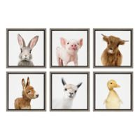 Kate And Laurel® Sylvie Farm Animals 13-Inch Frame Canvas Wall Art (Set of 6)