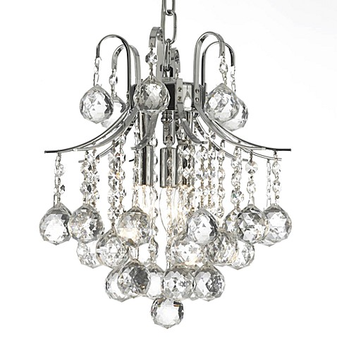 Gallery empire crystal 3 light mini chandelier bed bath - Small crystal chandelier for bathroom ...