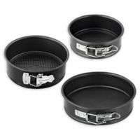Zenker Pure 3-Piece Nonstick Round Springform Bakeware Set in Black