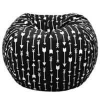Acessentials® Paris Bean Bag Chair in Black/White