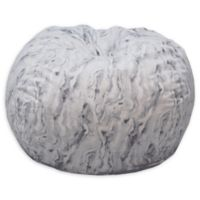 Acessentials® Polyester Upholstered Marble Bean Bag Chair in White Marble