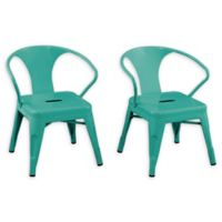 Acessentials® Metal Activity Chairs Chairs in Teal (Set of 2)