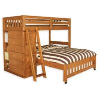 Discovery World Furniture™ Twin Over Full Loft Bed in Honey