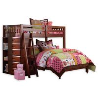 Discovery World Furniture™ Twin Over Full Loft Bed in Merlot