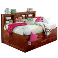 Discovery World Furniture Twin Bookcase Daybed with 6 Drawers in Merlot