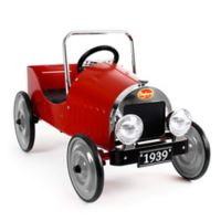 Baghera Classic Metal Ride-On Pedal Car in Red