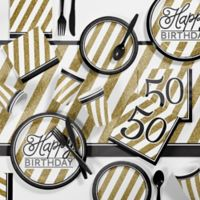 Creative Converting™ 81-Count 50th Birthday Party Supplies Kit in Gold