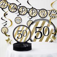 Creative Converting™ 8-Piece 50th Birthday Party Decorations Kit in Gold