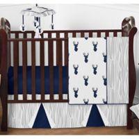 Sweet Jojo Designs Woodland Deer 4-Piece Crib Bedding Set in Blue/Grey