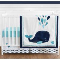 Sweet Jojo Designs Whale 4-Piece Crib Bedding Set in Blue/Turquoise