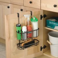 iDesign® Axis Over the Cabinet Dual Basket Organizer in Bronze