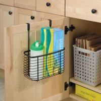iDesign® Axis Over the Cabinet Large Basket Organizer in Bronze