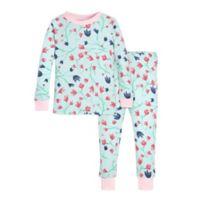 Burt's Bees Baby 2-Piece Bethel Woods 2T Pajama Set in Green