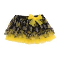 Baby Starters® Newborn Daisy Print Bow Tutu in Black/Yellow