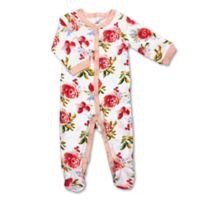 Size 3M Allover Flowers Print Footie
