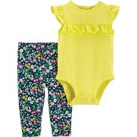 carter's® Size 18M 2-Piece Flutter Bodysuit and Pant Set in Yellow