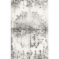 "Home Dynamix Boho Medallion 7'9"" x 10'2"" Area Rug in Ivory/Grey"