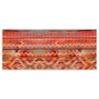 "Foflor Native Wood Runner 25"" x 60"" Kitchen Mat in Red"