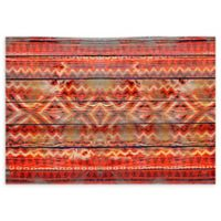 "FoFlor Native Wood 46"" x 66"" Kitchen Mat in Red"