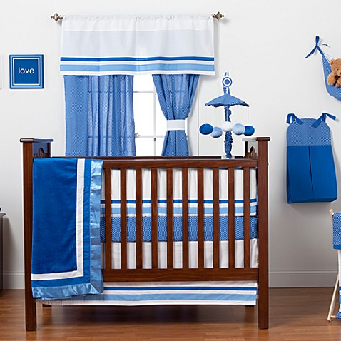 One Grace Place Simplicity Blue Crib Bedding Set