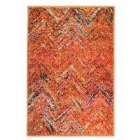 Rugs America Beverly Abstract Loomed 2' x 3' Area Rug in Rust