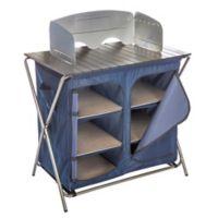 Kamp-Rite® Kwik Pantry with Cook Table in Blue/Tan