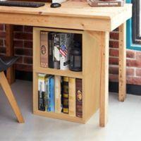 Way Basics Tool-Free Assembly Under Desk Shelf Organizer in Natural