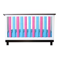 Go Mama Go Designs® 24-Pack Pure Safety Vertical Crib Liners in Pink/Blue